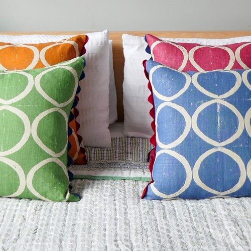 Circles Cushion, L50 x W50cm, Tangerine