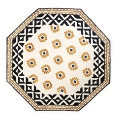 Crazy Daisy Rug, D182.88cm, black,yellow & white