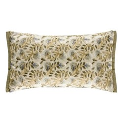 Wardle Embroidered Cushion, W30 x L50cm, Bayleaf/Manilla