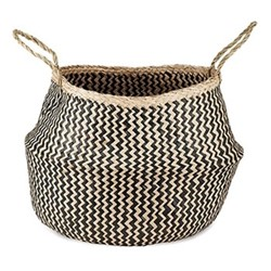 Ekuri Large basket, H40 x D40cm, black and natural
