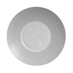 Hemisphere Dinner plate, Dia27cm, grey metallic