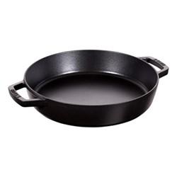 Double handle frying pan, 26cm, black