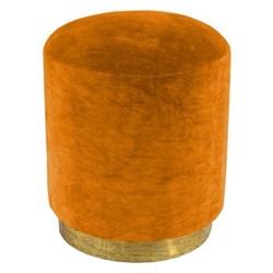Small footstool, H45 x D40cm, burnt orange velvet with brass base