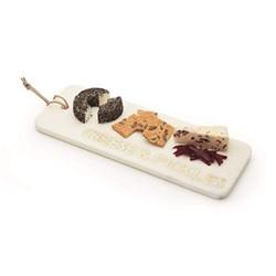 Rectangular board, W40 x L15cm, white/marble/gold