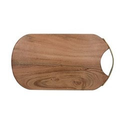 Natural Collection Oval serving board, L37 x W23cm, accacia wood