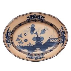 Oriente Italiano Oval platter, 34cm, cipria