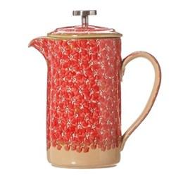 Lawn Large cafetiere, H21.6 x W11.4cm - 1 litre, red