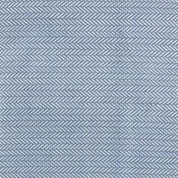 Herringbone Woven cotton rug, W61 x L91cm, denim/ivory