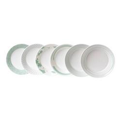 Pacific - Assorted Set of 6 pasta bowls, 22cm, mint