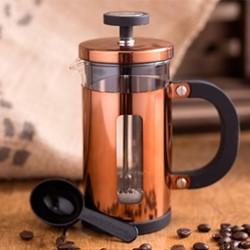 Origins - Pisa 8 cup cafetiere, H11 x W10 x L18cm - 1 Litre, copper