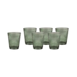 Ella Set of 6 tumblers, H10 x W8.5 x Dia8.5cm, forest