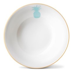 Pineapple Cereal bowl, H5.5 x Dia18cm, gold rim