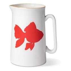 Goldfish Pint jug, H13.5 x Dia9cm, gold rim