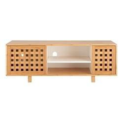 Kitt Double drawer unit, H45 x W130 x D40cm, Beige/ Natural
