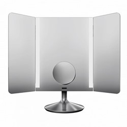 Wide view sensor mirror pro, H41 x W51.5cm, brushed stainless steel