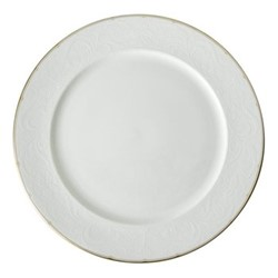 Darley Abbey Pure Gold Service plate, 30cm, white/gold