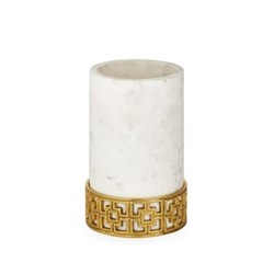 Nixon Wine bottle chiller, White Marble/Brass