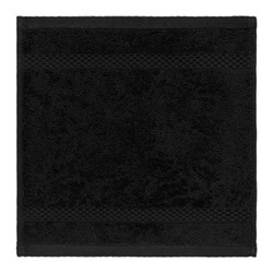 Egyptian Cotton Set of 3 face cloths, 30 x 30cm, black