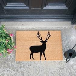 Stag Doormat, L60 x W40 x H1.5cm
