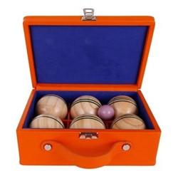 Chelsea Luxury indoor boules set, 22.5 x 8.5 x 22cm, tangerine