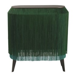 Baby Alpaga Side table, H72 x L66 x Dep27cm, sparkling green