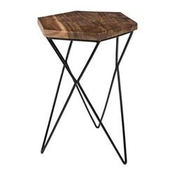 Hexagon Side table, W33 x L36 x H50cm, wood