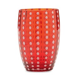 Perle Pair of tumblers, 32cl, red