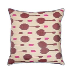 Ikat Cushion, 50 x 50cm, Pink/Burgundy