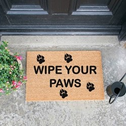 Wipe Your Paws Doormat, L60 x W40 x H1.5cm