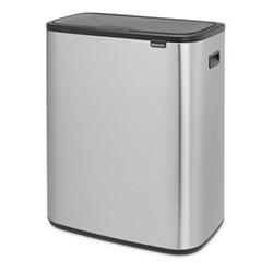 Bo Touch bin, 30 litre, matt steel fingerprint proof