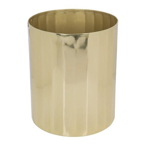Antique Gold Waste bin, H24 x W20.5 x D20.5cm