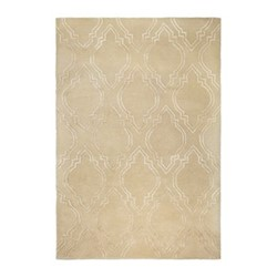 Diamond Tile Hand tufted rug, 140 x 200cm, beige