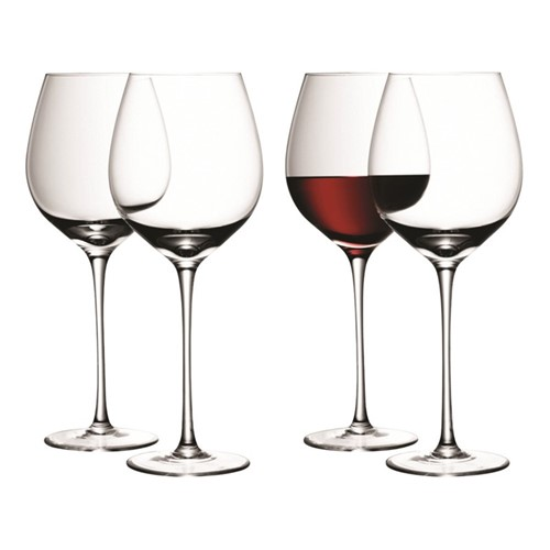 Wine Set of 4 red wine glasses, 750ml, clear