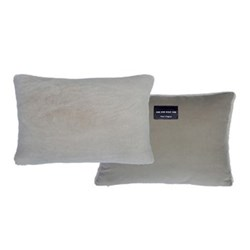 Sheepskin bolster cushion, L43 x W33cm, taupe