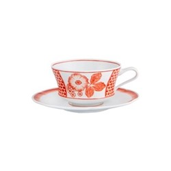 Oscar de la Renta - Coralina Breakfast cup and saucer, 35cl