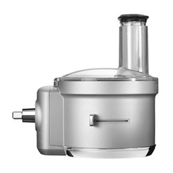 Food processor attachment for mixer, silver