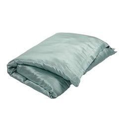 Signature Double duvet cover, L200 x W200cm, teal