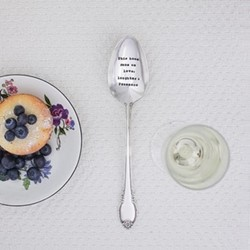 This Home Runs On Love Serving spoon, 21cm, silver plated