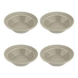 Botanic Garden Harmony Set of 4 cereal bowls, 16cm, stone