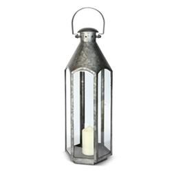 Belize Medium lantern, H60 x L23 x D23cm, galvanised steel