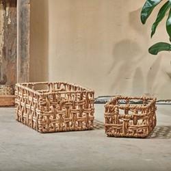 Kora Rectangular Storage Basket Small natural, Small