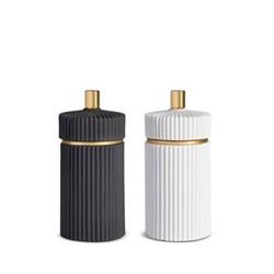 Ionic Set of 2 small salt & pepper mills, H10 x Dia5cm, black + white