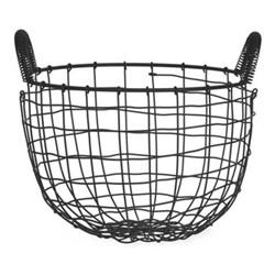 Wirework Small basket, W30cm, black