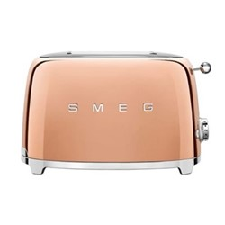 50's Retro 2 slice toaster, rose gold
