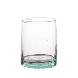 Morrocan Set of 6 large glasses, D6.3 x H8.9cm, green
