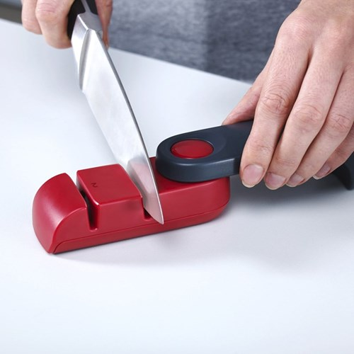 Rota Knife sharpener and honer, red and grey