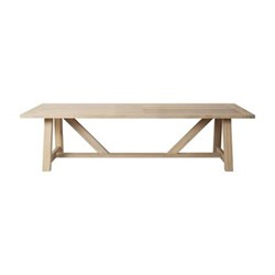 Arundel 6 seater dining table, L245 x W100 x H73cm, oak