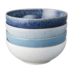 Studio Blue 4 piece cereal bowl set, 17cm