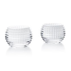 Eye Pair of votives, H7 x D9.3cm, white