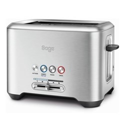 The Bit More Toaster, 2 slot, brushed stainless steel